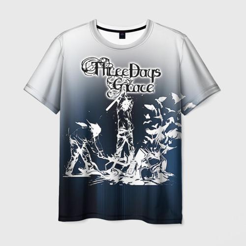 Мужская футболка 3D Three Days Grace 2