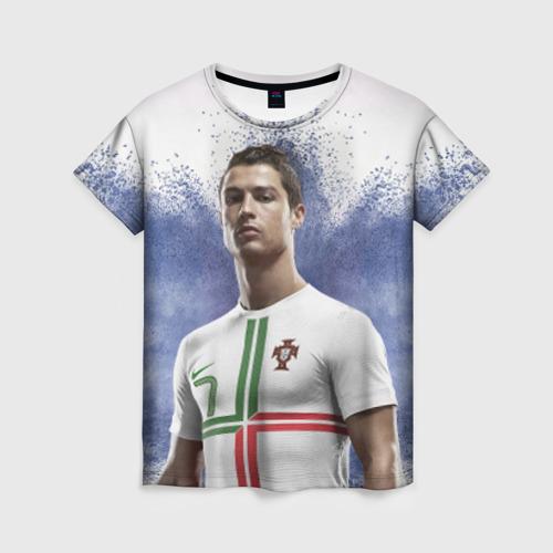 Женская футболка 3D Криштиану Роналду