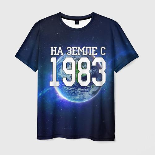 Мужская футболка 3D На Земле с 1983