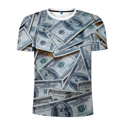 Мужская футболка 3D спортивная Money