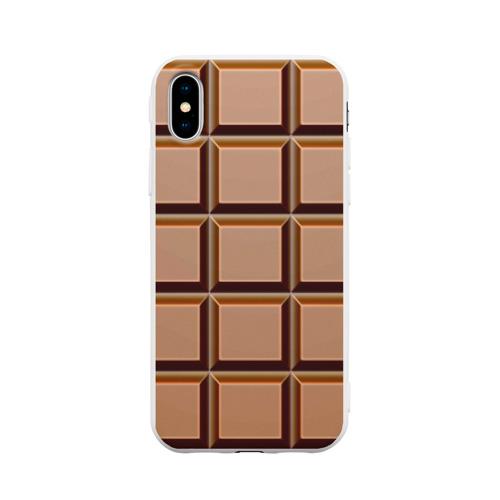 Чехол для iPhone X матовый Шоколад