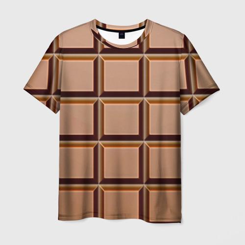 Мужская футболка 3D Шоколад
