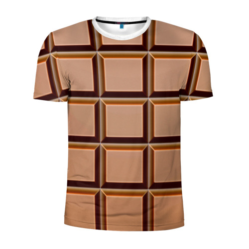 Мужская футболка 3D спортивная Шоколад