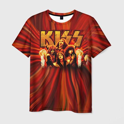 Мужская футболка 3D KISS