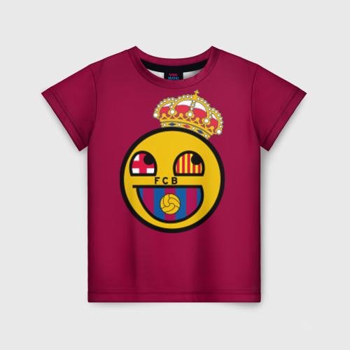 Детская футболка 3D FCB smile