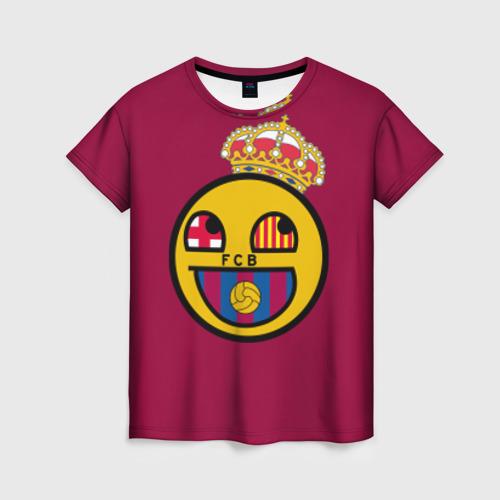 Женская футболка 3D FCB smile