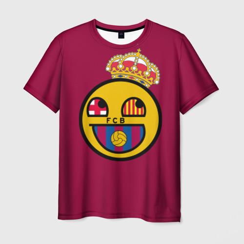 Мужская футболка 3D FCB smile