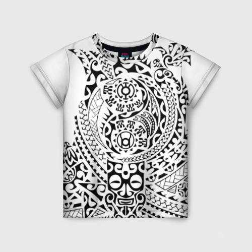 Детская футболка 3D Узор на белом