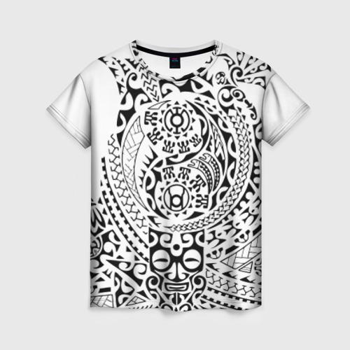 Женская футболка 3D Узор на белом