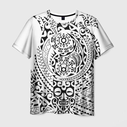 Мужская футболка 3D Узор на белом