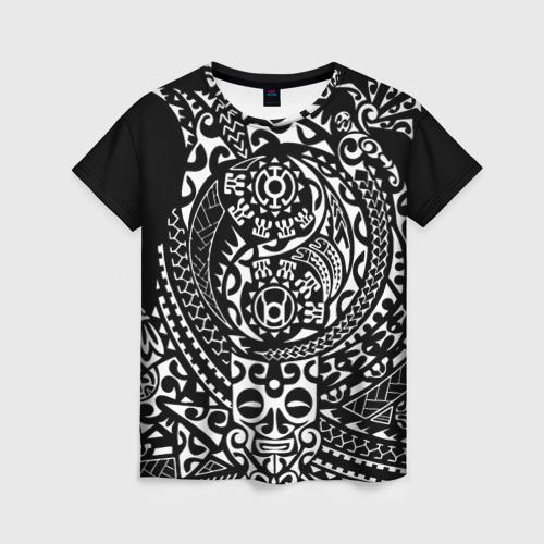 Женская футболка 3D Узор на черном