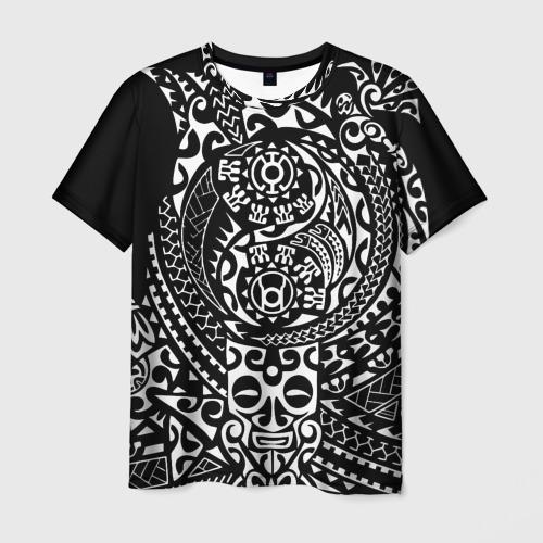 Мужская футболка 3D Узор на черном