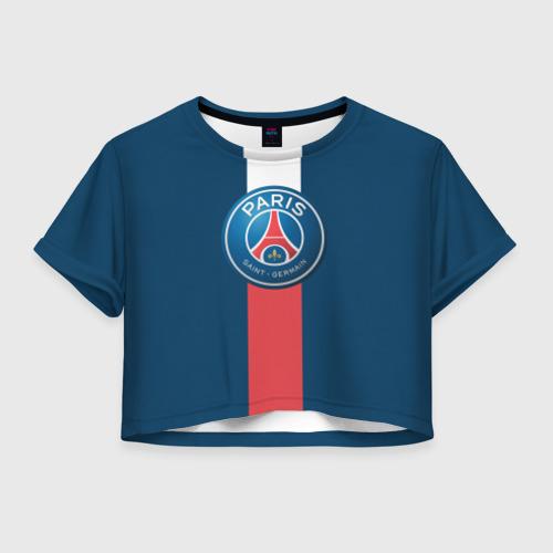 Женская футболка Crop-top 3D ПСЖ