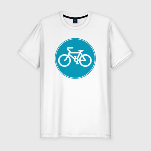 Мужская футболка хлопок Slim Велосипедный знак