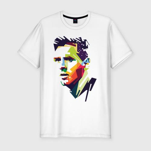 Мужская футболка хлопок Slim Леонель Месси