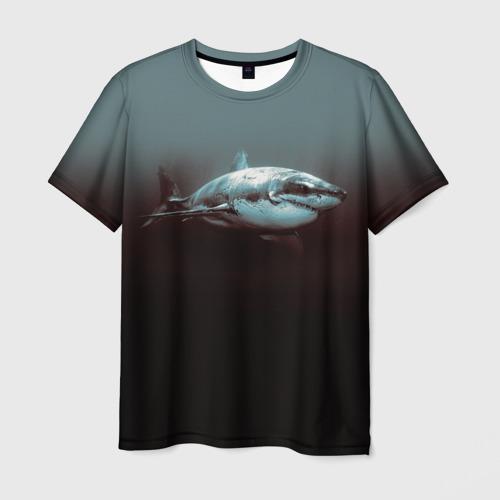 Мужская футболка 3D Акула