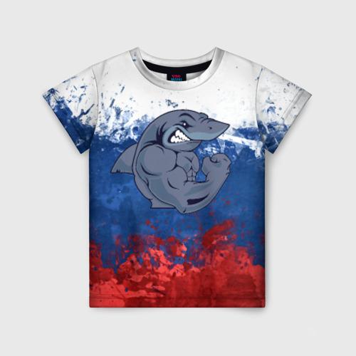 Детская футболка 3D Акула
