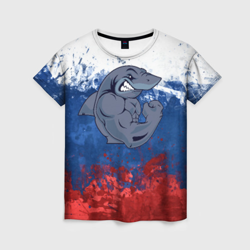 Женская футболка 3D Акула