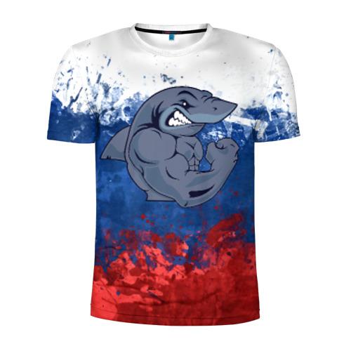 Мужская футболка 3D спортивная Акула