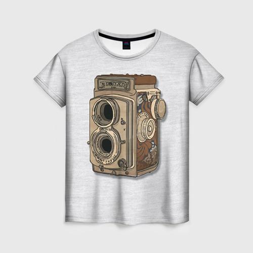 Женская футболка 3D Фотоаппарат