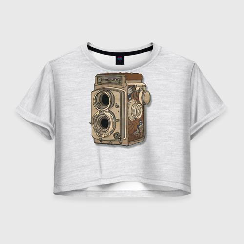 Женская футболка Crop-top 3D Фотоаппарат