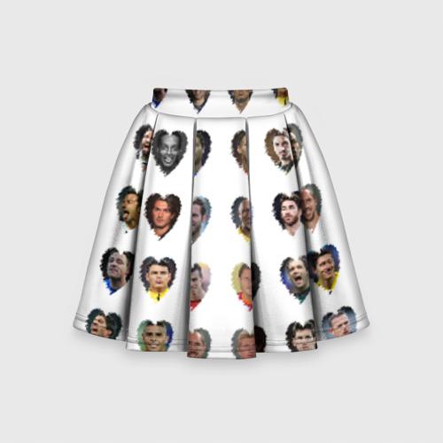 Детская юбка-солнце 3D Величайшие футболисты