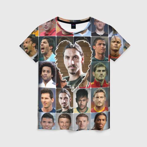 Женская футболка 3D Златан Ибрагимович - лучший