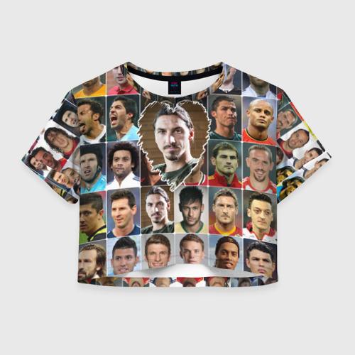 Женская футболка Crop-top 3D Златан Ибрагимович - лучший