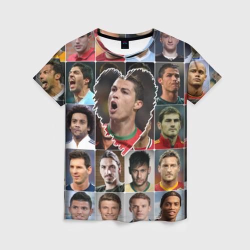 Женская футболка 3D Криштиану Роналду - лучший