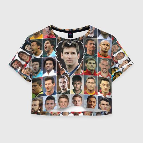 Женская футболка Crop-top 3D Лионель Месси - лучший