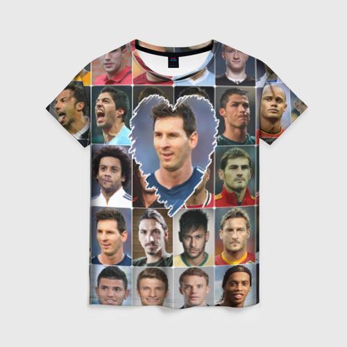 Женская футболка 3D Лионель Месси - лучший