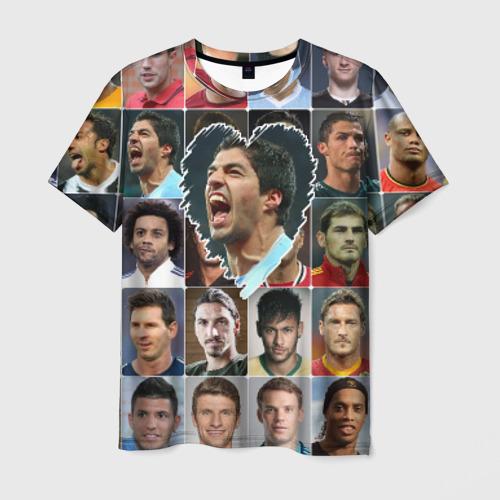 Мужская футболка 3D Луис Суарес - лучший