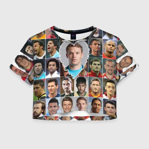 Женская футболка Crop-top 3D Мануэль Нойер - лучший