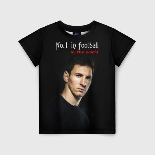 Детская футболка 3D No.1 in football in the world