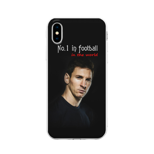 Чехол для iPhone X матовый No.1 in football in the world