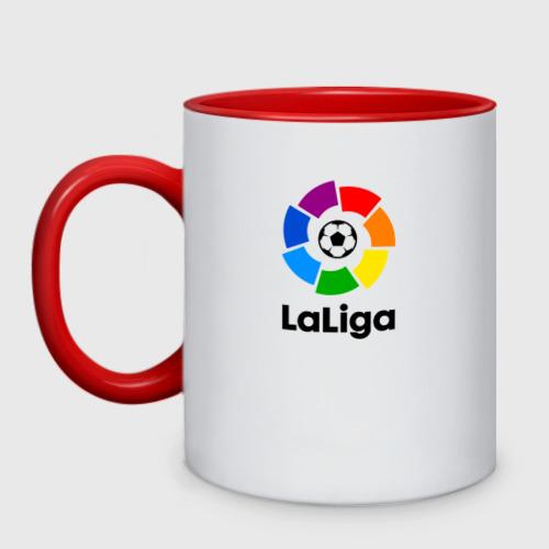 Кружка двухцветная Чемпионат Испании