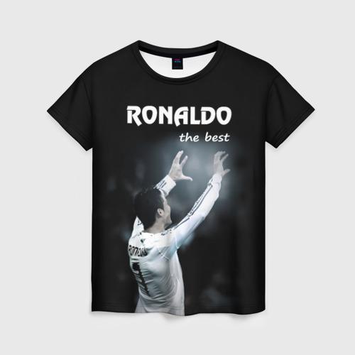 Женская футболка 3D RONALDO the best