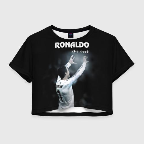 Женская футболка Crop-top 3D RONALDO the best