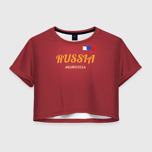 Женская футболка Crop-top 3D Сборная России 2016