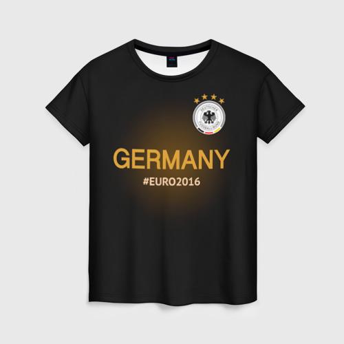 Женская футболка 3D Сборная Германии 2016