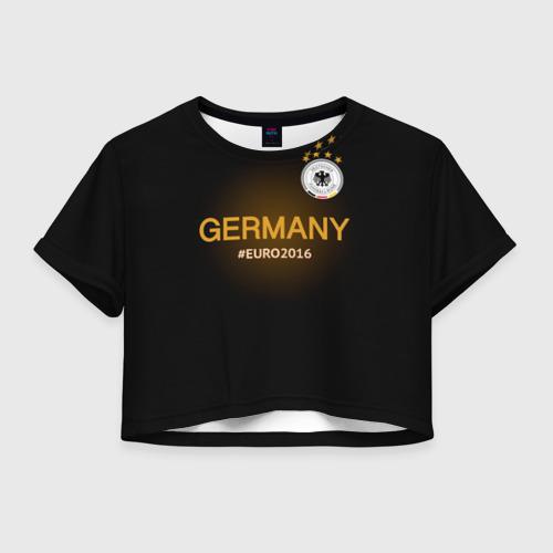 Женская футболка Crop-top 3D Сборная Германии 2016