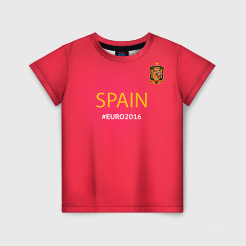 Детская футболка 3D Сборная Испании 2016