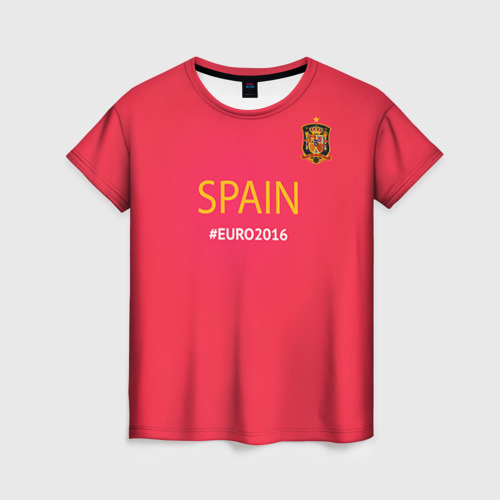 Женская футболка 3D Сборная Испании 2016