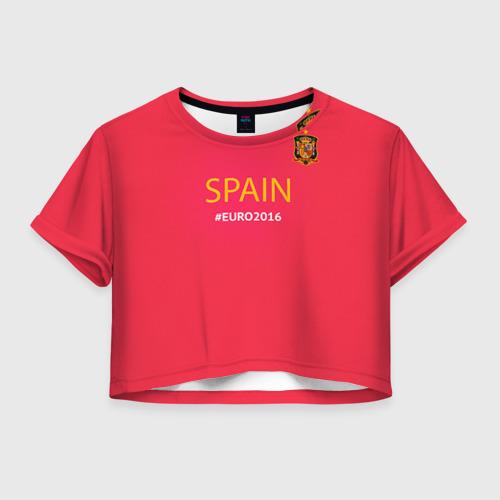 Женская футболка Crop-top 3D Сборная Испании 2016
