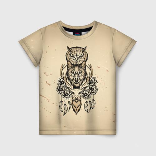 Детская футболка 3D Животные