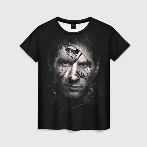 Женская футболка 3D Месси