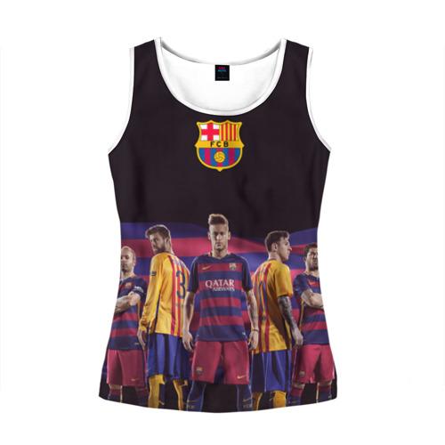 Женская майка 3D ФК Барселона