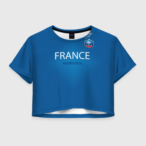 Женская футболка Crop-top 3D Сборная Франции 2016