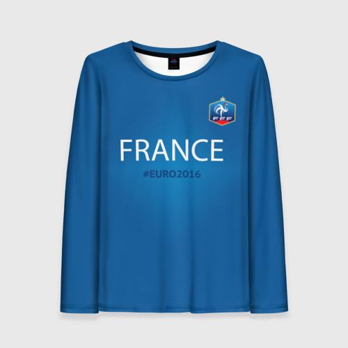 Женский лонгслив 3D Сборная Франции 2016