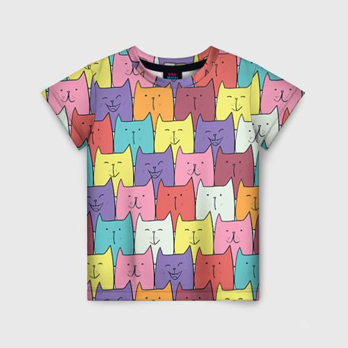 Детская футболка 3D Котики